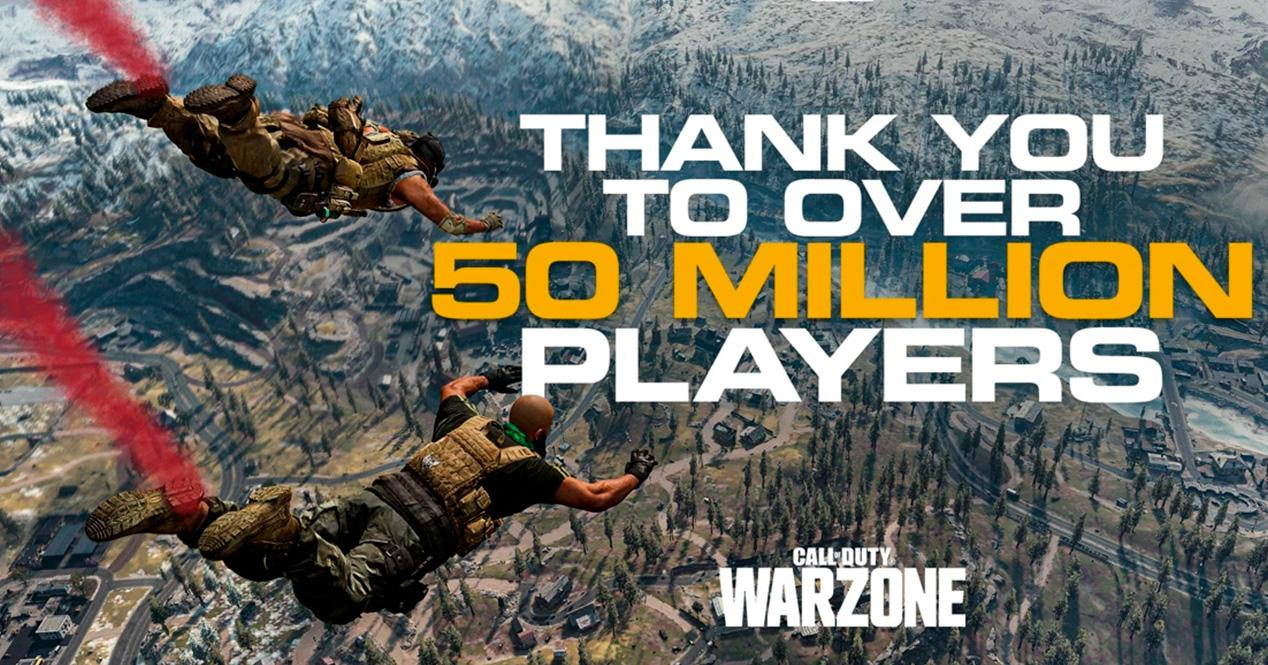 Call of Duty Warzone 50 millones